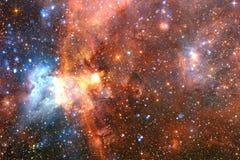 Galaxie impressionnante dans l'espace extra-atmosph?rique Starfields de cosmos sans fin images libres de droits