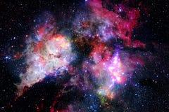 Galaxie incroyablement belle quelque part dans l'espace lointain Papier peint de la science-fiction photographie stock libre de droits