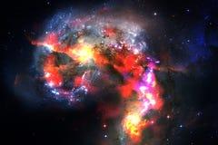 Galaxie incroyablement belle quelque part dans l'espace lointain Papier peint de la science-fiction photographie stock