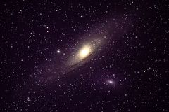Galaxie M31 d'Andromeda photographie stock