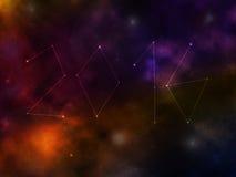 Galaxie mit 2016 Sternen Stockfotografie