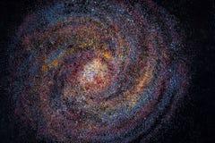 galaxie Produit de confiserie de la poussière d'étoile multicolore Sucre et sucre en poudre abrégez le fond Nourriture douce photographie stock