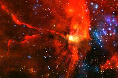 Galaxie quelque part dans l'espace extra-atmosphérique Éléments de cette image meublés par la NASA photo stock