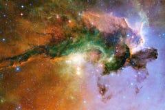 Galaxie quelque part dans l'espace extra-atmosph?rique ?l?ments de cette image meubl?s par la NASA photographie stock libre de droits