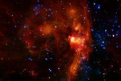 Galaxie quelque part dans l'espace extra-atmosph?rique ?l?ments de cette image meubl?s par la NASA photos stock