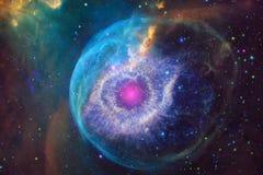 Galaxie rougeoyante, papier peint impressionnant de la science-fiction illustration libre de droits