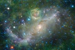 Galaxie rougeoyante, papier peint impressionnant de la science-fiction images stock