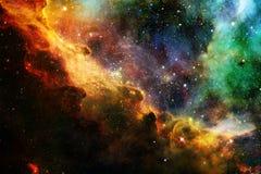 Galaxie rougeoyante, papier peint impressionnant de la science-fiction image libre de droits