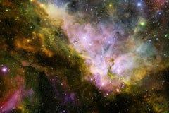 Galaxie rougeoyante, papier peint impressionnant de la science-fiction illustration de vecteur