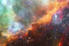 Galaxie rougeoyante, papier peint impressionnant de la science-fiction photo libre de droits