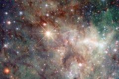 Galaxie rougeoyante, papier peint impressionnant de la science-fiction photos libres de droits