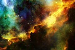 Galaxie rougeoyante, papier peint impressionnant de la science-fiction photo stock
