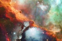 Galaxie rougeoyante, papier peint impressionnant de la science-fiction photographie stock libre de droits
