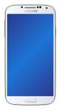 Blanc de la galaxie S4 de Samsung Photographie stock