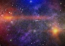 Galaxie spiralée dans l'espace lointain Éléments de cette image meublés par la NASA Image stock
