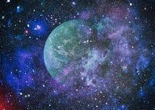Galaxie spiralée dans l'espace lointain Éléments de cette image meublés par la NASA Photographie stock