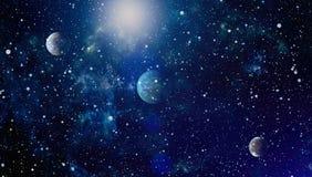 Galaxie spiralée dans l'espace lointain Éléments de cette image meublés par la NASA Photo stock