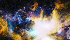 Galaxie spiralée dans l'espace lointain Éléments de cette image meublés par la NASA Photo libre de droits