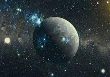 Galaxie spiralée dans l'espace lointain Éléments de cette image meublés par la NASA Image libre de droits