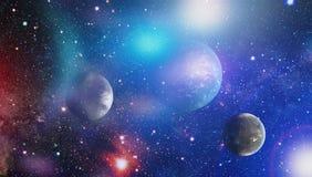 Galaxie spiralée dans l'espace lointain Éléments de cette image meublés par la NASA Images stock