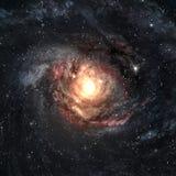 Galaxie spiralée incroyablement belle quelque part dedans illustration stock