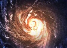Galaxie spiralée incroyablement belle quelque part dedans photos libres de droits