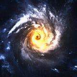 Galaxie spiralée incroyablement belle quelque part dedans photographie stock