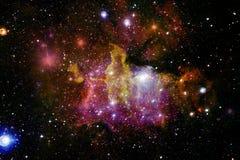 Galaxie, starfield, nébuleuses, groupe d'étoiles dans l'espace lointain Art de la science-fiction photo libre de droits