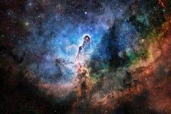 Galaxie, starfield, nébuleuses, groupe d'étoiles dans l'espace lointain Art de la science-fiction photo stock