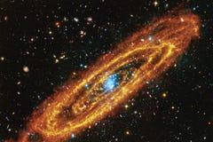 Galaxie, starfield, nébuleuses, groupe d'étoiles dans l'espace lointain Art de la science-fiction illustration stock