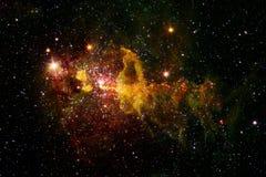 Galaxie, starfield, n?buleuses, groupe d'?toiles dans l'espace lointain Art de la science-fiction photographie stock libre de droits
