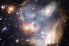 Galaxie, starfield, n?buleuses, groupe d'?toiles dans l'espace lointain Art de la science-fiction images stock