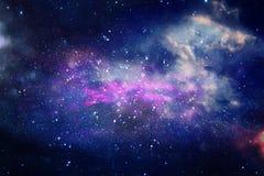 Galaxie und Nebelfleck Sternenklare Weltraumhintergrundbeschaffenheit stockbild
