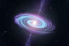 Galaxie und schwarzes Loch in der Mitte Stockfotos