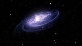 Galaxie wird vom Raum mit Sternen gesehen lizenzfreie abbildung