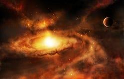 Galaxiekernnebelfleck im Weltraum stock abbildung
