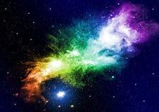 Galaxien und Sterne Stockbild