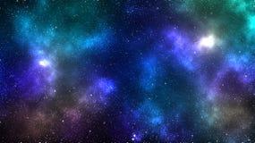 Galaxieraum-Nebelfleckhintergrund Stockfotografie