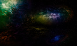 Galaxies beautiful fantasy. Royalty Free Stock Photo