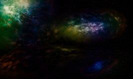 Galaxies beautiful fantasy. Royalty Free Stock Photo
