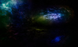Galaxies beautiful fantasy. Royalty Free Stock Photography