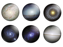 Galaxies Buttons Royalty Free Stock Photography