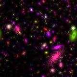 Galaxies colorées illustration de vecteur