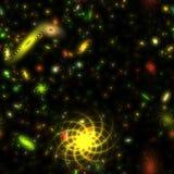 Galaxies colorées illustration stock