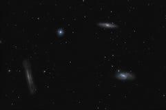 galaxies Leo tercet Obraz Stock