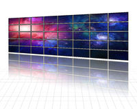 Galaxies screen Royalty Free Stock Images