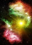 Galaxies and stars Stock Photography