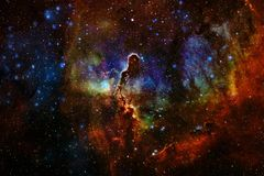 Galaxies, stars and nebulas in awesome space image. Colorful science fiction wallpaper. Elements of this image furnished by NASA royalty free stock images
