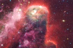 Galaxies, stars and nebulas in awesome space image. Colorful science fiction wallpaper. Elements of this image furnished by NASA royalty free stock image