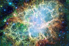 Galaxies, stars and nebulas in awesome space image. Colorful science fiction wallpaper. Elements of this image furnished by NASA royalty free stock photography